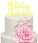 Baby Shower words Acrylic Cake Topper